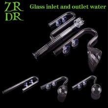 Zrdr skimmer vidro lírio tubo spin superfície fluxo de entrada 13/17mm aquário água planta tanque filtro ada qualidade do tanque de peixes filtro