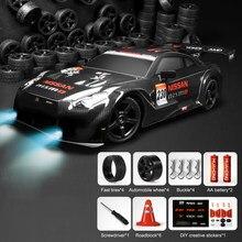 2021 novo 1:16 4wd drift rc carro de corrida jogo 30km/h 2.4g controle remoto alta velocidade rc carros para adultos crianças gtr modelo brinquedos