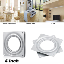 4 Inch Square Rotating Swivel Plate Replacement Metal Lazy Susan Bearing Turntable TV Rack Desk Seat Swivel Plate Bar Tool