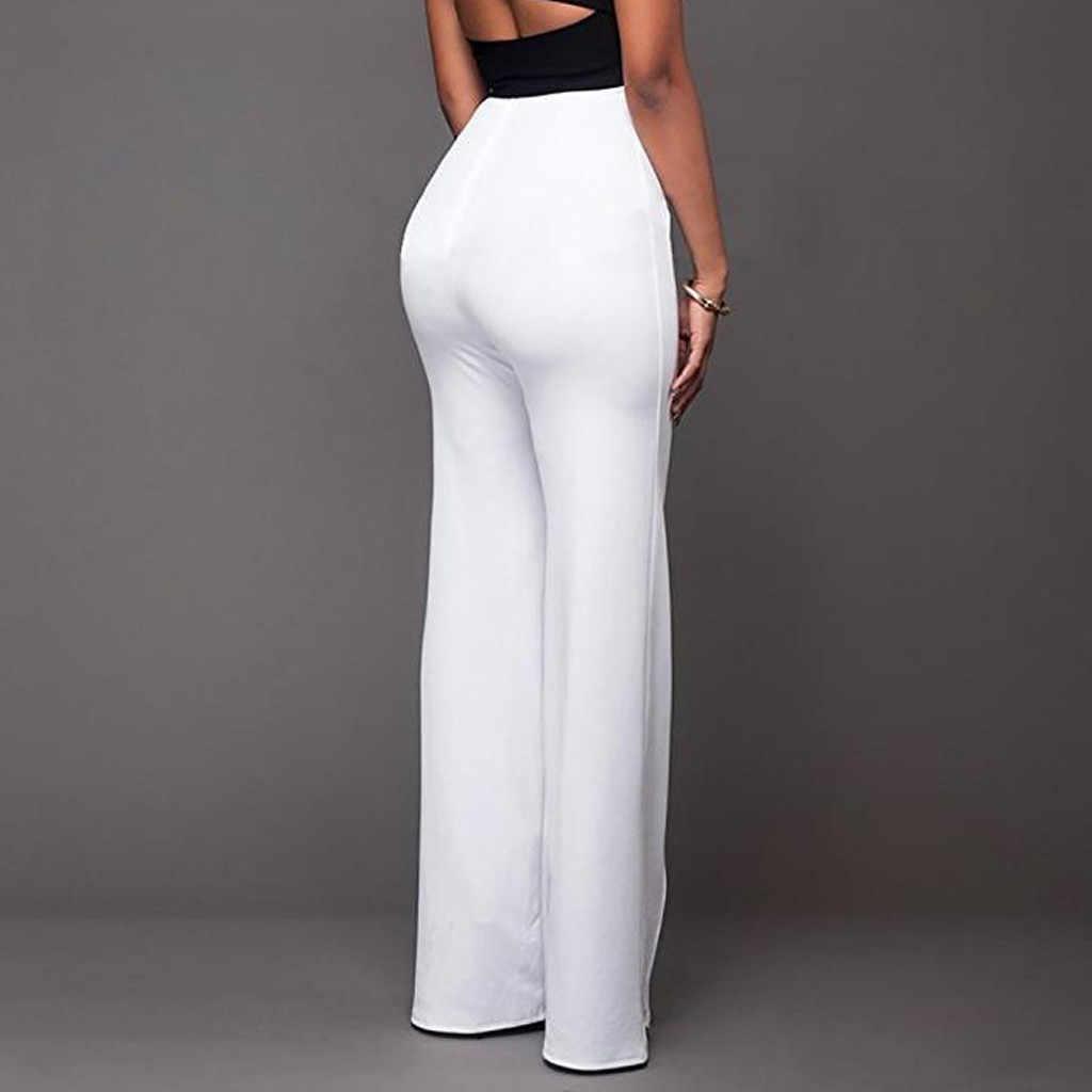 Womail Pantalones Formales Elegantes Para Mujer Estilo De Oficina Para Mujer Ropa De Trabajo Rectos Con Botones Informales De Negocios 2020 Pantalones Y Pantalones Capri Aliexpress