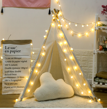 QYJSD Easter Decoration Small Ball Garland Bulb String Lights LED for Christmas New Year Window Bedroom Diwali Living Room Decor image