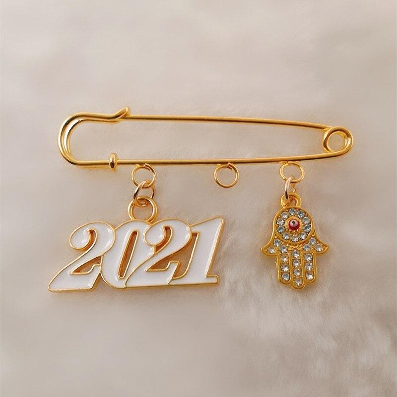 2021 Lucky Eye Hamsa Hand Evil Eye Brooch Brooch Gold Color Charm Brooch Jewelry For Women Men|Brooches| - AliExpress