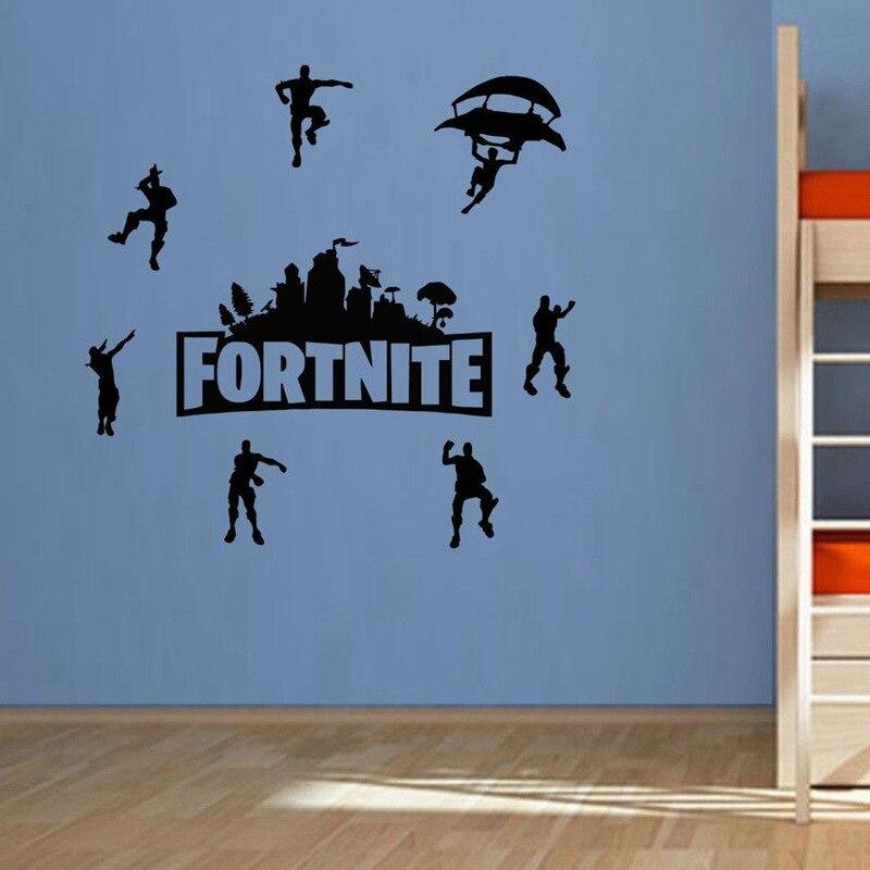 Fortress noite adesivos de parede quarto pano de fundo fortnites pintura decorativa decoração para casa adesivos cartazes dos desenhos animados presentes impressos