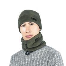 3pcs/set Men Women Scarf Hat Gloves Set Three-Piece Winter Warm Fleece Slouchy Beanie Hats Scarves Clothing Kit