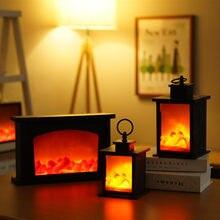 Romântico portátil usb powered moda chama efeito noite barra de luz led simulação lareira luz sala estar decoração da sua casa