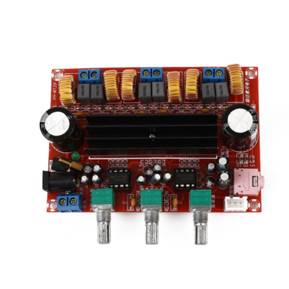 TPA3116 2.1 Digital Audio Amplifier Board TPA3116D2 Subwoofer Speaker Amplifiers DC12V-24V 2*50W+100W image
