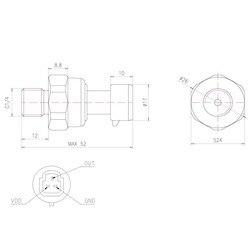 G1/4 0-0.8MPa przetwornik ciśnienia wody czujnik oleju napędowego oleju napędowego