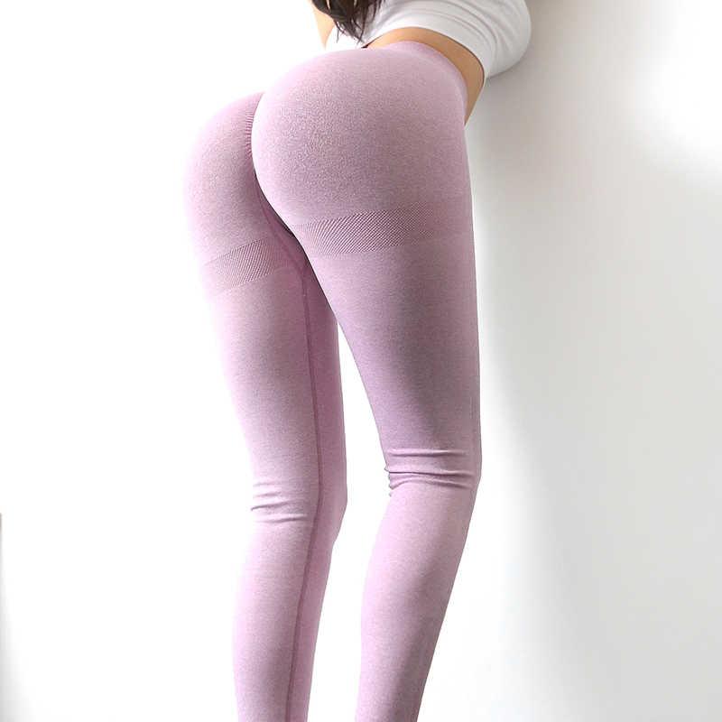 Collants de Yoga sans couture pour femmes, pantalons de sport à taille haute, effet Push-Up et Fitness, pantalon de Yoga, stretch