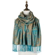 Jzhifiyer jacquard scarf rayon foulard paisley ladies wraps shawls scarves mujer brand luxury cashmere wool capes