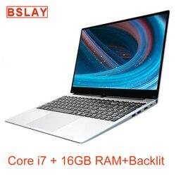 2020 NEW ARRIVAL 15.6 inch 1920*1080 IPS Screen Core i7 DDR3 16GB 128G/256G/512G/1TB SSD Metal Backlit Windows 10 Laptop