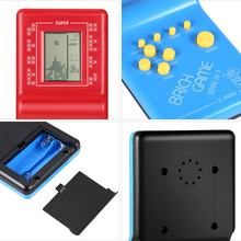 Retro LCD Game Electronic Vintage Tetris Brick Handheld Arcade Pocket Toys Tetris Brick Game For Children Educational Toys Hot(China)