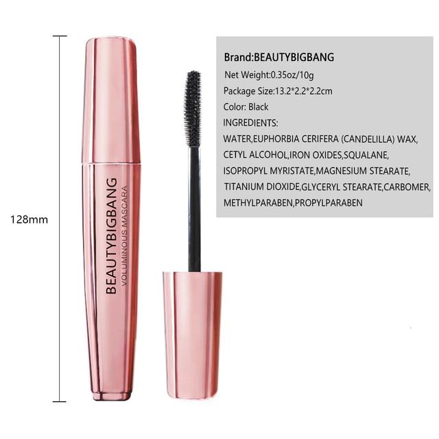 BeautyBigBang Eyes Mascara Waterproof Volume False Eyelashes Curling Thick Black For Rimel Lashes Cosmetics Makeup 5