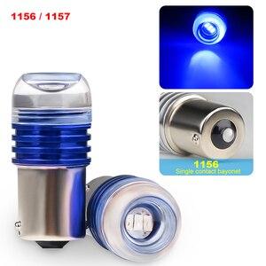 2 шт. 1157 LED 1156 BAY15D Светодиодные лампы высокой яркости чипы для автомобилей мотоциклов 1156 1157 Красный светодиод 5730 Светодиодные стоп-сигналы DC ...