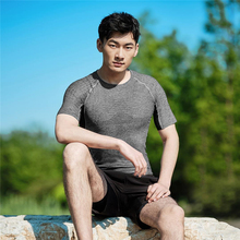 Zenph Sportwear Breathable T-shirt Men O-neck Short Sleeve Quick-Drying T-shirts Polyester Gym Flexible SensElast Sport Shirts