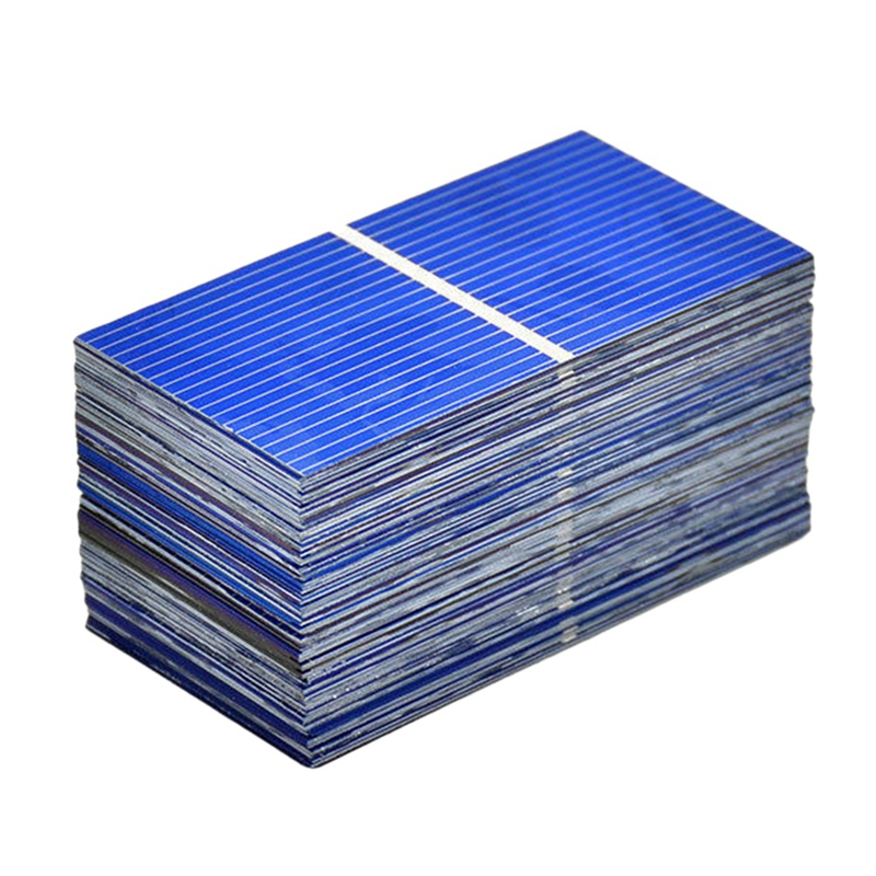 100Pcs Solar Panel Sun Cell Sun Power Solar Cell Diy Solar Battery Charger 52X26Mm image