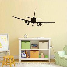 Коммерческий авиалайнер Наклейки на стены домашний декор силуэт самолета наклейки на стену новое украшение дома