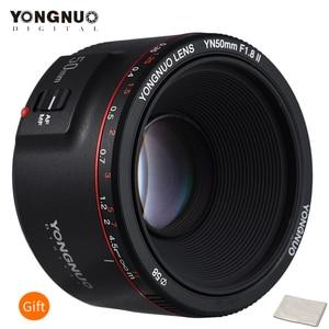 Image 1 - Стандартный основной объектив YONGNUO YN50mm F1.8 II, Большая диафрагма, автофокус 0,35, минимальное фокусное расстояние для Canon EOS 5DII 5diii 5DS 5DSR