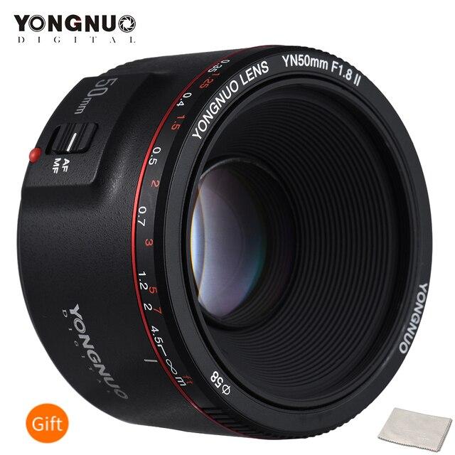 Стандартный основной объектив YONGNUO YN50mm F1.8 II, Большая диафрагма, автофокус 0,35, минимальное фокусное расстояние для Canon EOS 5DII 5diii 5DS 5DSR