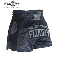 Muay Thai Fighting kickboxing Embroidery Shorts Fluory MuayThai Trunks Men Combat Free Sparring MMA Fight Shorts pretorian boxeo