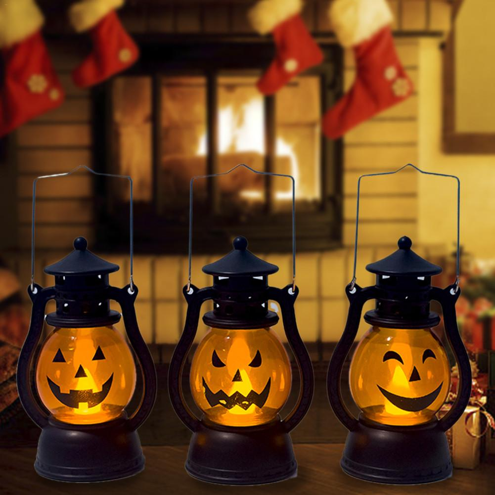 Cute LED Creative Halloween Pumpkin Light Lamp Childrens Atmosphere Layout Decoration Decorative