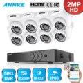 ANNKE 8CH 1080P домашняя видео система безопасности H.264 + 5in1 1080N DVR с 4X 8X Смарт ИК Купол Открытый Всепогодный набор камер наблюдения