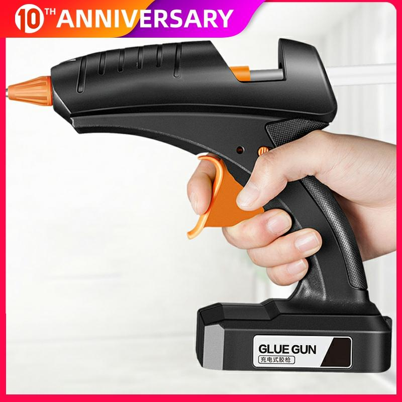 Cordless Hot Melt Glue Gun 80W 12V Rechargeable Lithium Battery Wireless Professional Repair Tool Glue Gun For 11mm Glue Stick