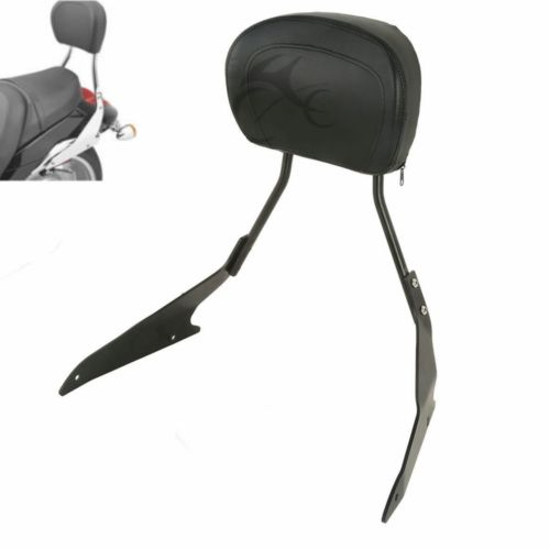 Black Detachable Sissy Bar Backrest For Suzuki Boulevard M109R Models 2006-2015