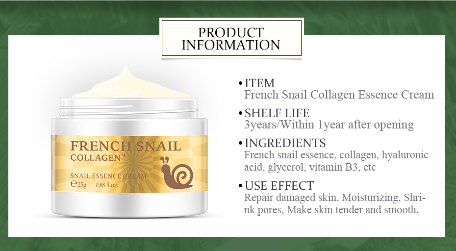 Snail Face Cream Collagen Anti-Wrinkle Whitening Facial Cream Hyaluronic Acid Moisturizing Anti-aging Nourishing Serum Skin Care -