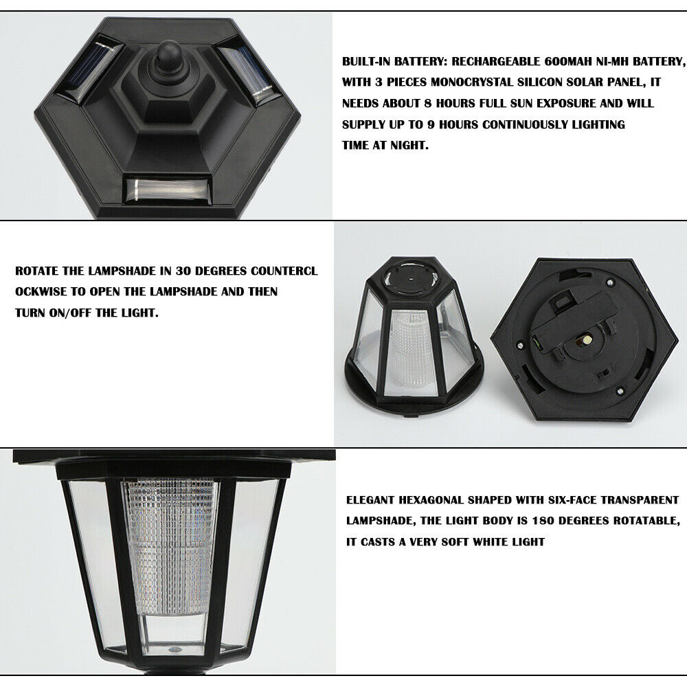 Hexagonal Solar Light emitting-color: 1 PCS 2 PCS 4 PCS  https://flxicart.com