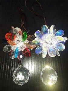 Image 4 - 1Pcs Auto specchio appeso pendente di bling di cristallo fiocco di neve ornamenti auto auto decorazione di natale accessori per le ragazze