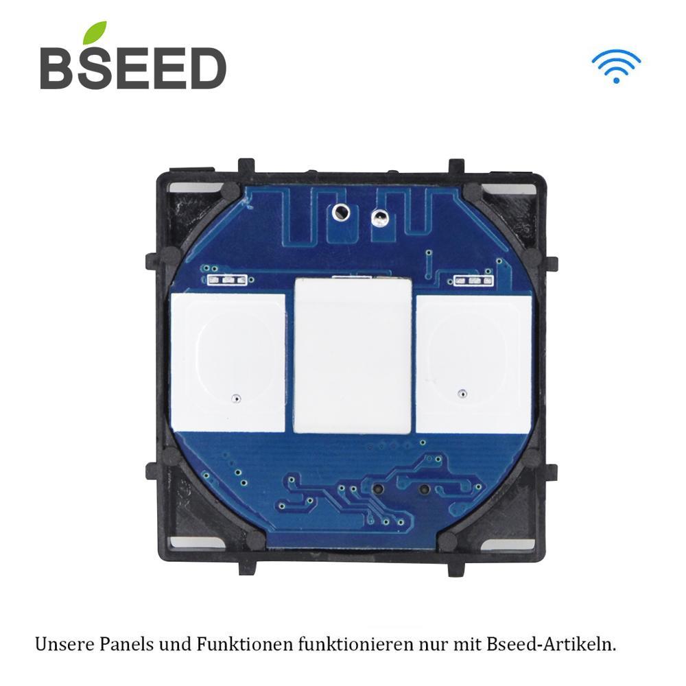 Bseed-commutateur tactile Wifi sans panneau | Standard EU, Base de commutateurs tactiles, 1 Gang 2 gangs, 3 gangs, interrupteur de commande AC 110 ~ 240V