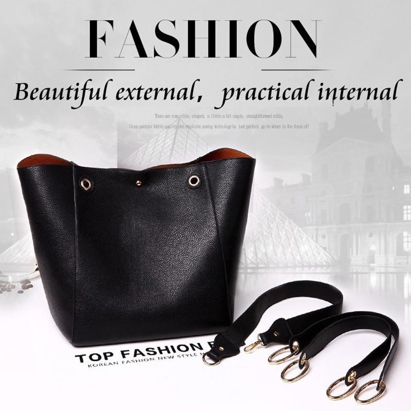 Image 5 - Real Genuine Leather Women Shoulder Bag High Quality Designer Leather Handbag Female Big Tote Ladies Hand Bags for women 2019-in Shoulder Bags from Luggage & Bags