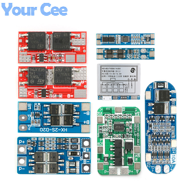 1S 2S 3S 4S 6S Li-ion Lithium Battery Protection Board 18650 Charger Module Board PCB BMS Protection Board Lipo Cell Module image