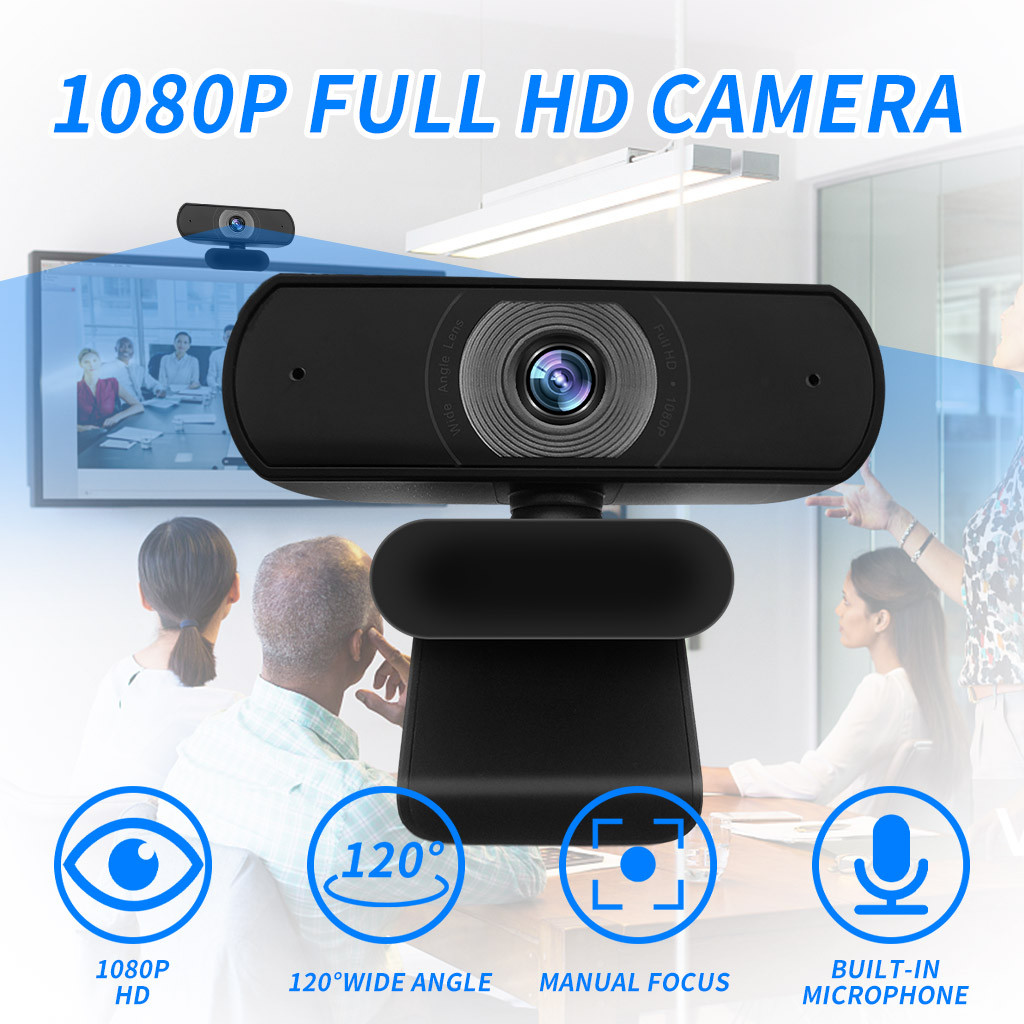 New Full HD 1080P High Pixels USB Webcam Built-in Microphone Auto Focus Computer Peripheral Web Camera for Youtube PC Laptop