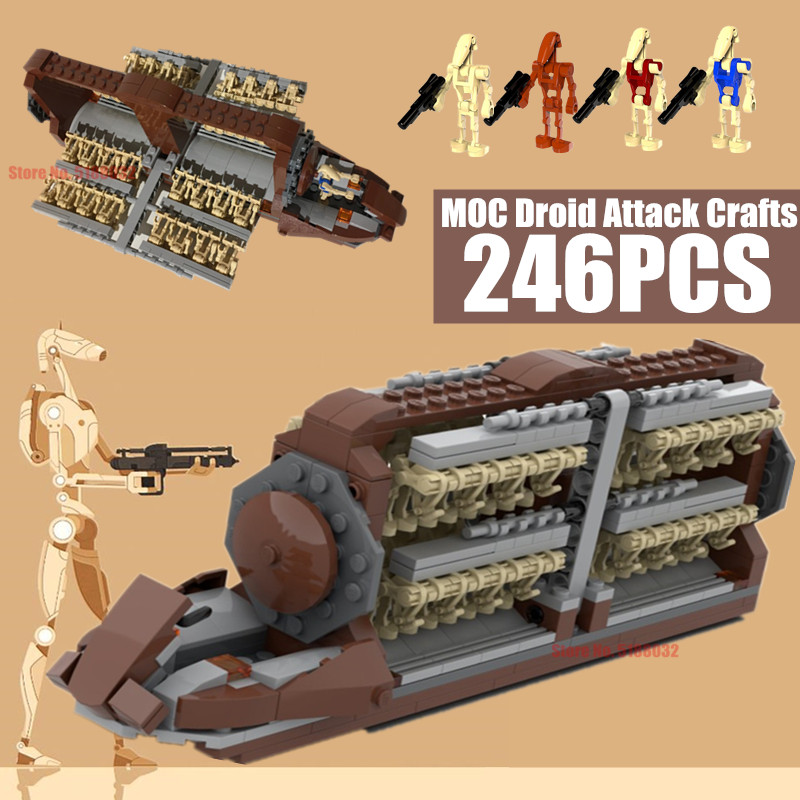 New Star Movie Wars Droid Platoon Attack Craft Building Blocks Battleship Toys