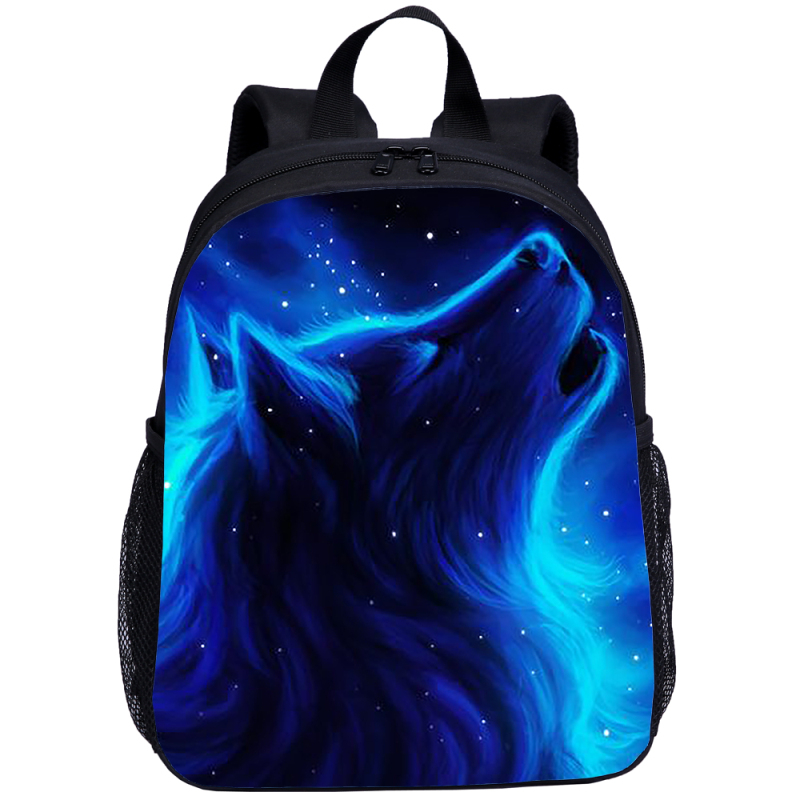 2019 Hot Children Backpacks Aminals Kindergarten School Bags For Age 2-7 Galaxy Wolf Anti Lost School Backpack For Kids Travel