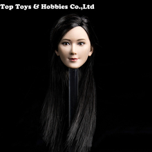 1/6 Scale Asian beauty girl Lingling Head w black long straight hair for 12 Action Figure Accessory Collection Doll Toys Gift 1 6 scale asian beauty girl lingling head w black long straight hair for 12 action figure accessory collection doll toys gift
