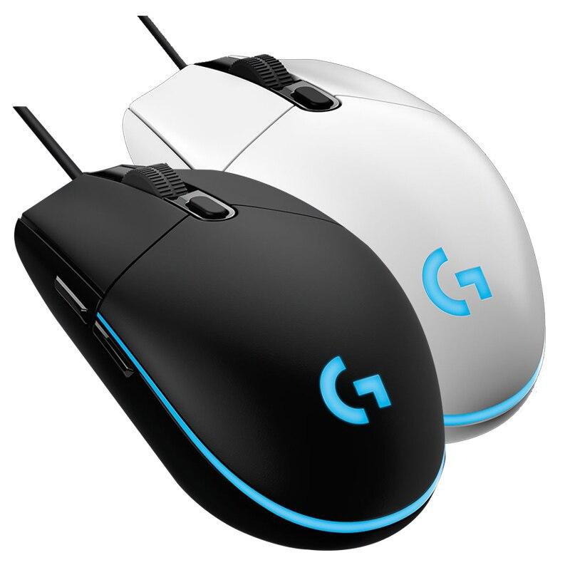 Ratón de juegos por cable Logitech G102, retroiluminado, mecánico, botón en el lateral, ratón deslumbrante, Macro portátil, USB, oficina en casa, Logitech G102 Ratones    - AliExpress