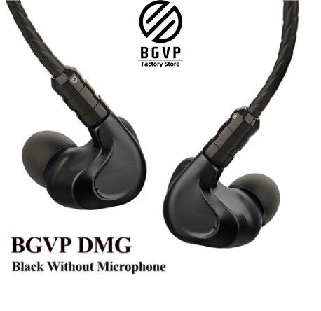 Bgvp dmg 2dd + 4ba controladores híbridos en oreja auriculares monitor de metal de alta fidelidade com cabo de áudio mmcx desmon