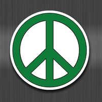 A0240 Pace simboli sticker logo segno contro la guerra valigia impermeabile del computer portatile chitarra deposito skateboard bicicletta giocattolo adesivi Per I Bambini