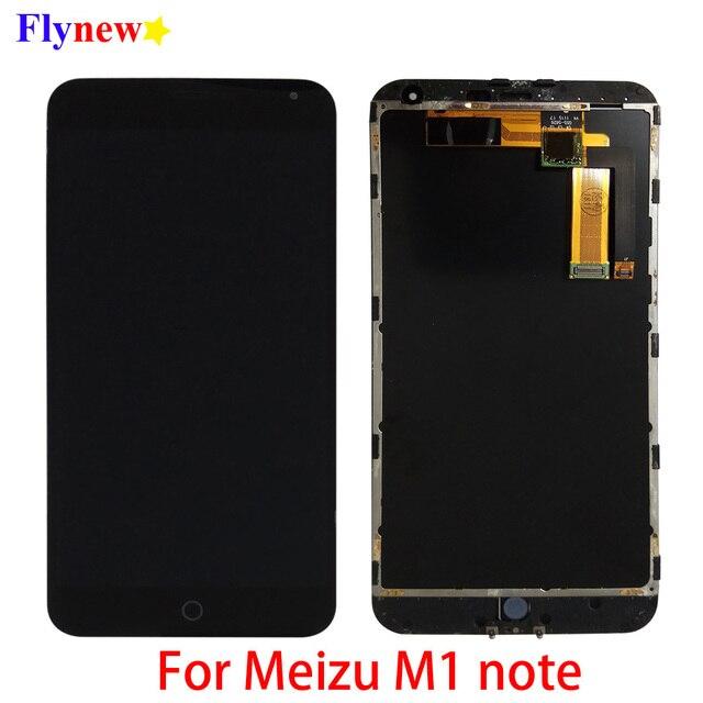 """5.5 """"oryginalny LCD do Meizu M1 uwaga wyświetlacz LCD z ekranem dotykowym Digitizer do Meilan Note M463U montaż telefonu komórkowego z częściami ramy"""