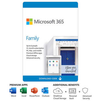Office 365 Family | 12-Month Subscription, up to 6 people | Premium Office apps | 1TB OneDrive cloud storage | PC/Mac Download - DISCOUNT ITEM  40 OFF All Category