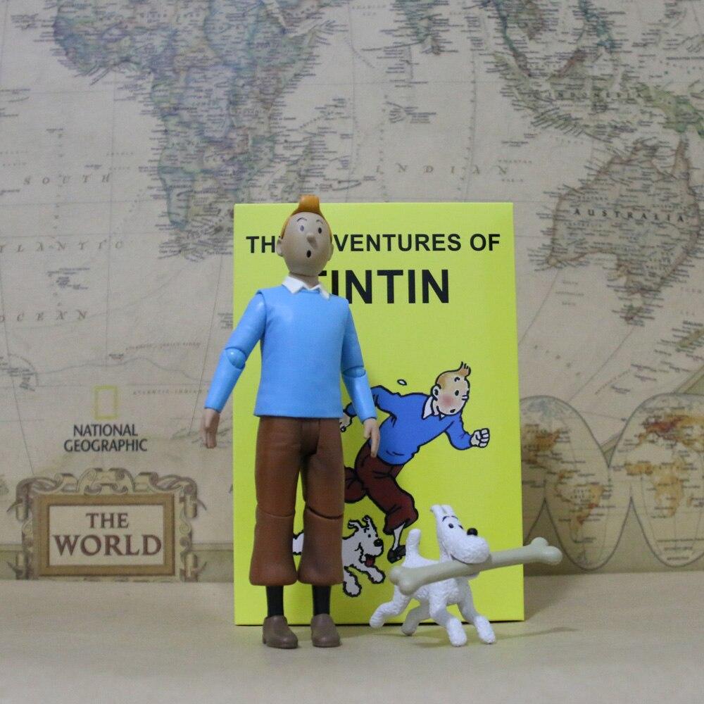 Personnages de dessin animé Herge Le Lotus Bleu Tintin & Milou snow, jouets animés, voyage les aventures de Tintin, jouets daction