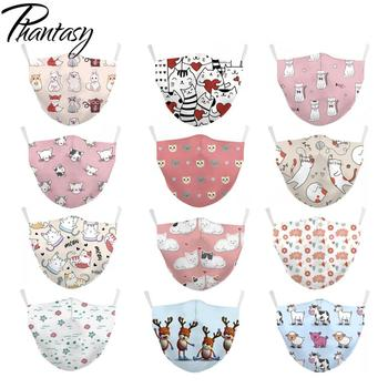 Phantasy Children's Cute Cartoon Printed Kid Face Mask Protective PM.25 Anti Pollution bacteria proof Flu Mask Washable Reusable