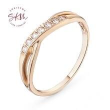 Skm винтажные кольца с муасанитом для женщин обручальные из