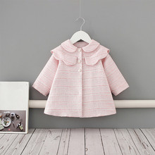 2020 Baby Girls Trench Kids Coat Peter Pan Collar A-line Spring Parka Kids Outer