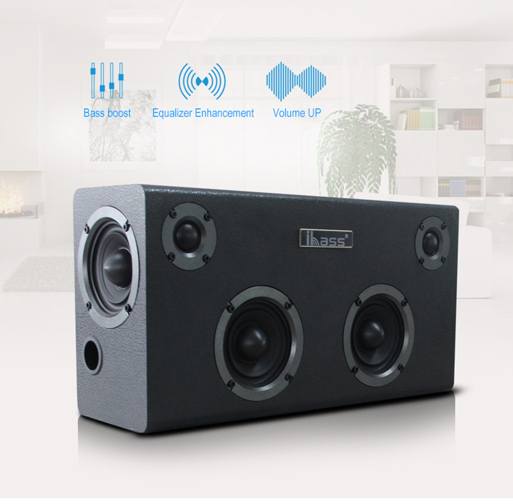 IBASS GaGa <font><b>Bluetooth</b></font> <font><b>Speaker</b></font> Wooden <font><b>Speaker</b></font> Car Outdoor Home 6-unit <font><b>Speaker</b></font> TV Computer Audio support Cell Phone Coaxial AUX USB image