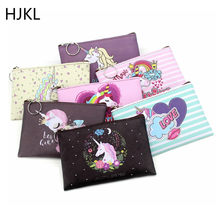 Women Coin Purses Cartoon Unicorn Mini Wallets Cute Card Holder Ladies Key Money Bags for Girls Purse Female Kids Children Pouch(China)