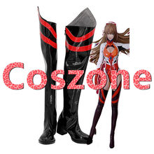 Neon Genesis Evangelion EVA Asuka Langley Soryu Cosplay Shoes Boots Halloween Carnival Cosplay Costume Accessories(China)
