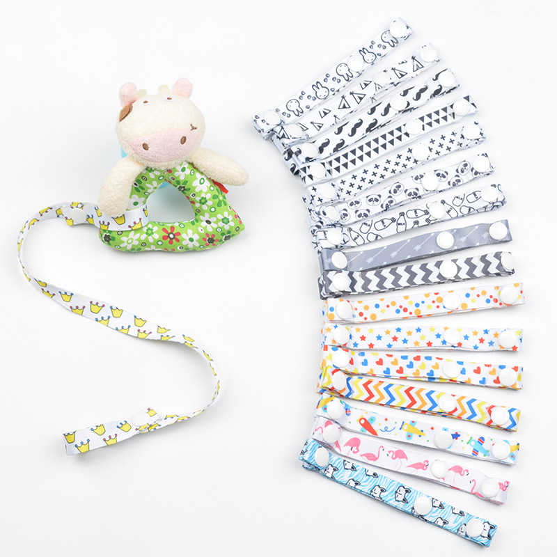 Adjustable Ribbon Baby Pacifier Chain Dummy Clip Nipple Holder For Nipples Stroller Lanyard Feeding Attachment Speenkoord